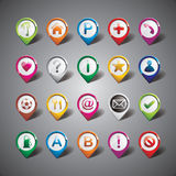 Vector design with pointer icon set on gray backgr Stock Images