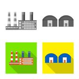 Isolated object of production and structure logo. Set of production and technology vector icon for stock. stock illustration
