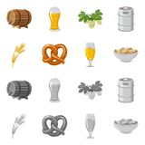 Vector design of pub and bar sign. Collection of pub and interior stock symbol for web. stock illustration