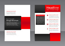Vector design of the red and black flyer, cover, brochure, poster, report royalty free illustration