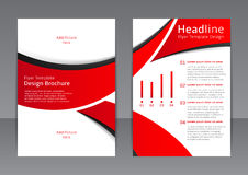 Vector design of the red flyer, cover, brochure, poster, report with black elements Stock Images