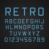 Vector design retro signboard letters with light Stock Photos