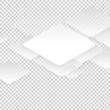 Vector design with rhombus on the grey Stock Photos