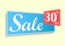 Sale discount banner. Vector design of sale label nature concept Royalty Free Stock Photos