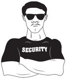 Vector design of Security guard Royalty Free Stock Photo