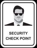 Vector design of Security guard man Stock Photography