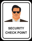 Vector design of Security guard man icon in EPS10 Stock Images