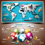 Vector design set of infographic elements. World m Stock Photos