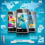 Vector design set of infographic elements. World map and information graphics. Stock Photography