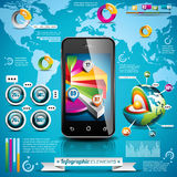 Vector design set of infographic elements. Royalty Free Stock Images