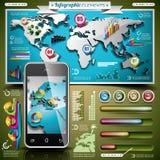 Vector design set of infographic elements. royalty free illustration