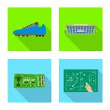 Isolated object of soccer and gear sign. Set of soccer and tournament stock symbol for web. vector illustration