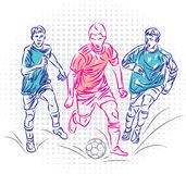 Vector design of soccer players. Sport Vector design of soccer players Royalty Free Stock Photos