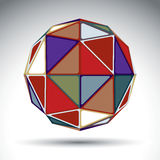 Vector design spherical object with kaleidoscope effect Royalty Free Stock Photos