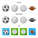 Isolated object of sport and ball logo. Collection of sport and athletic vector icon for stock. stock illustration