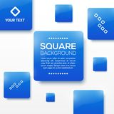 Vector Design Squares Concept. Vector Illustration Royalty Free Stock Photos