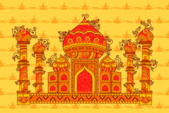 Vector design of Taj Maha Royalty Free Stock Photo