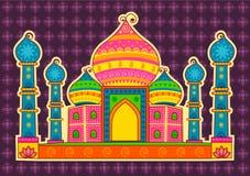 Vector design of Taj Maha Royalty Free Stock Image