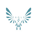 Vector design template of abstract bird Royalty Free Stock Images