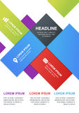 Vector design template for business infographics, brochure, flye Stock Image