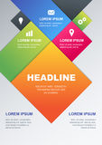Vector design template. Concept for business infographics, broch Royalty Free Stock Photo