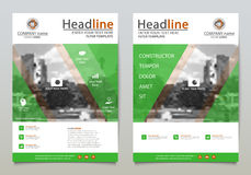 Vector design template. Cover design, vector template of the annual report, booklets, brochures, presentations, flyers on white and green background. A4 layout royalty free illustration