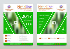 Vector design template. Cover design, vector template of the annual report, booklets, brochures, presentations, flyers on white and green background. A4 layout Vector Illustration