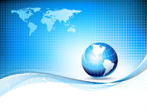 Vector design template with earth globe and map Stock Photos