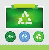 Vector design template with ecology icons Royalty Free Stock Image