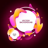 Vector design template and illustration in trendy bright gradien Stock Image