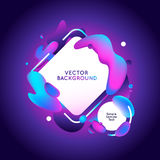 Vector design template and illustration in trendy bright gradien Stock Photography