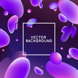 Vector design template and illustration in trendy bright gradien Royalty Free Stock Photography