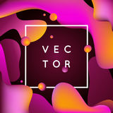 Vector design template and illustration in trendy bright gradien Stock Images