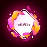 Vector design template and illustration in trendy bright gradien Royalty Free Stock Images
