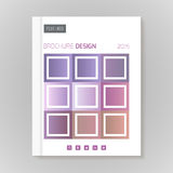 Vector design template layout for brochure, cover, infographic Stock Images
