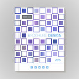 Vector design template layout for brochure, cover, infographic Stock Photos