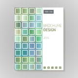 Vector design template layout for brochure, cover, infographic Stock Image