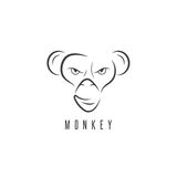 Vector design template of the monkey Royalty Free Stock Photos