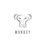 Vector design template of the monkey Stock Photo