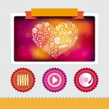 Vector design template with music icons and signs Stock Images