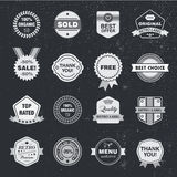 Vector design template set, collection for making badge, logo, stamp. Stock Photos