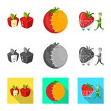 Vector design of test and synthetic icon. Collection of test and laboratory stock vector illustration. Vector illustration of test and synthetic symbol. Set of stock illustration
