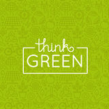Vector design - think green Royalty Free Stock Photos