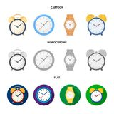 Vector design of time and hour sign. Collection of time and business vector icon for stock. Vector illustration of time and hour logo. Set of time and business vector illustration
