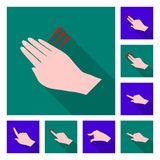 Vector design of touchscreen and hand logo. Set of touchscreen and touch stock symbol for web. Vector illustration of touchscreen and hand icon. Collection of stock illustration