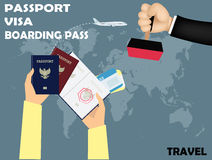Vector design of travel Royalty Free Stock Images