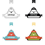 Vector Design Triangle label set Stock Images