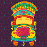 Vector design of truck of India. In Indian art style royalty free illustration