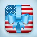Vector Design USA Gift Icon for Web and Mobile Royalty Free Stock Photo