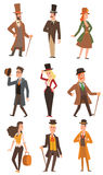 Vector design victorian people. Stock Images